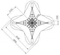 Kuva tuotteen Verkkopyramidi 4m T4, Turva-alueesta