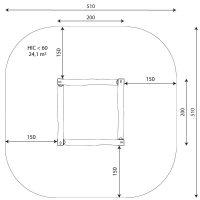 Kuva tuotteen Robinia Hiekkalaatikko, 2 m x 2 m VRB 1331 turva-alueesta