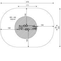 Kuva tuotteen Crosstrainer V 1115 turva-alueesta