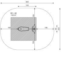 Kuva tuotteen Monitoimipenkki V 1103 turva-alueesta