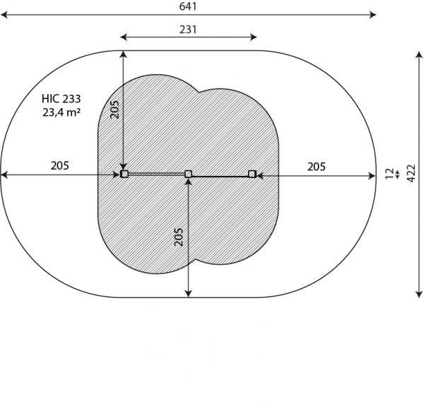 Kuva tuotteen Puolapuut Käsilläseisontaseinällä V 2308 turva-alueesta