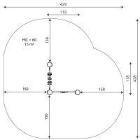 Kuva tuotteen Robinia Aktiviteettitaulu Aakkoset ja Geometriset Kuviot turva-alueesta