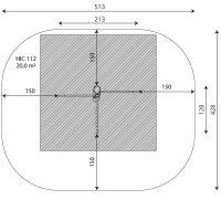 Kuva tuotteen Robinia Punnerrus- ja Voimistelutangot VRB 1113 turva-alueesta