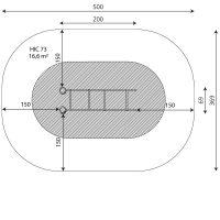 Kuva tuotteen Robinia Punnerrustangot VRB 2301 turva-alueesta