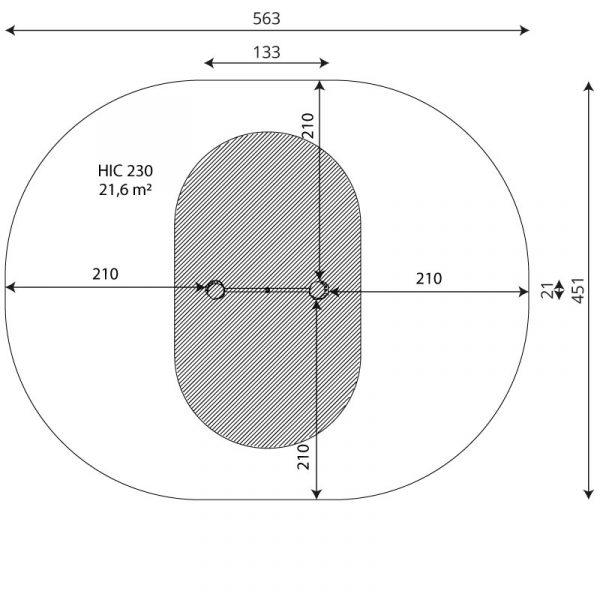 Kuva tuotteen Robinia Voimisteluverkko VRB 2310 turva-alueesta
