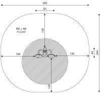 Kuva tuotteen Tai-Chi Pyörät V 1109 turva-alueesta