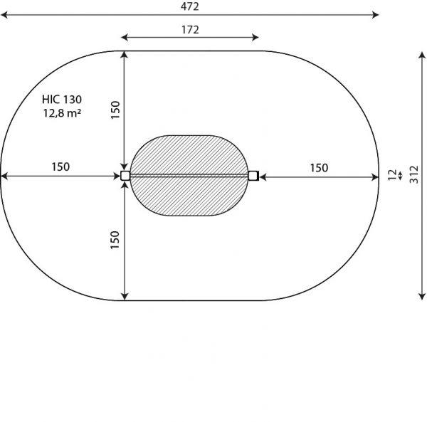 Kuva tuotteen Voimistelu- ja Leuanvetotanko V 2307 turva-alueesta