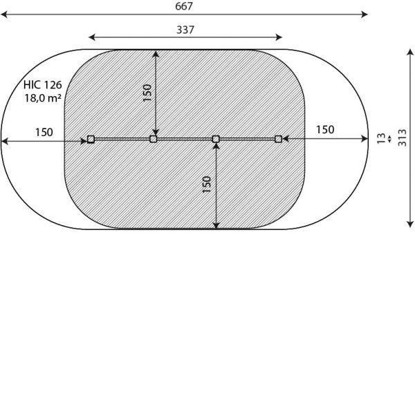 Kuva tuotteen Voimistelu- ja Punnerrustangot V 2304 turva-alueesta