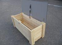 Kuva tuotteesta Lelulaatikko 1,5 x 0,6 m, Kansi auki