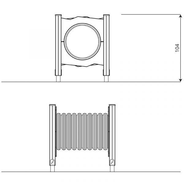 Kuva tuotteen Ryömintätunneli VWD 1459 mitoista