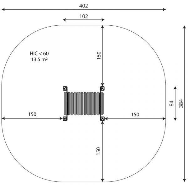Kuva tuotteen Ryömintätunneli VWD 1459 turva-alueesta