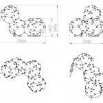 Kuva tuotteen Kiipeilykuutiot 4 CCK-004 mitoista