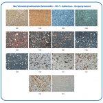 Värivaihtoehdot betoniosille +105 % lisähintaan, Kivipesty betoni