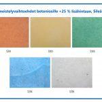 Värivaihtoehdot betoniosille +25 % lisähintaan, Sileä betoni