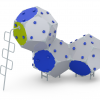 Kuva tuotteesta Kiipeilyteline Kuutiot 3, HDPE CCK-003-H, Sini-harmaa-vihreä 1