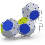 Kuva tuotteesta Kiipeilyteline Kuutiot 3, HDPE CCK-003-H, Sini-harmaa-vihreä 2