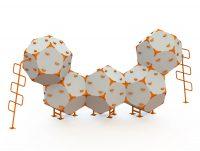 Kuva tuotteesta Kiipeilyteline Kuutiot 5, HDPE, CCK-005-H, Harmaa-oranssi