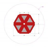 Kuva tuotteen Modulaarinen Trampoliini 3,1 x 3,45 m MP-TZMPPSG-3-6 turva-alueesta