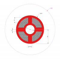 Kuva tuotteen Modulaarinen Trampoliini 3,7 x 3,7 m MP-TZMPPSG-370 turva-alueesta