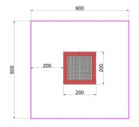 Kuva tuotteen Suorakulmainen Trampoliini 2 x 2 m MP-TZMPP-200 turva-alueesta