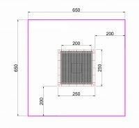 Kuva tuotteen Suorakulmainen Trampoliini 2,5 x 2,5 m MP-TZMPP-250 turva-alueesta