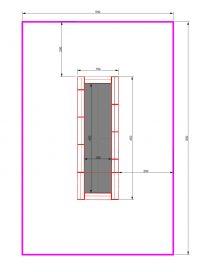 Kuva tuotteen Suorakulmainen Trampoliini 4,5 x 1,5 m MP-TZMPP-450-150 turva-alueesta